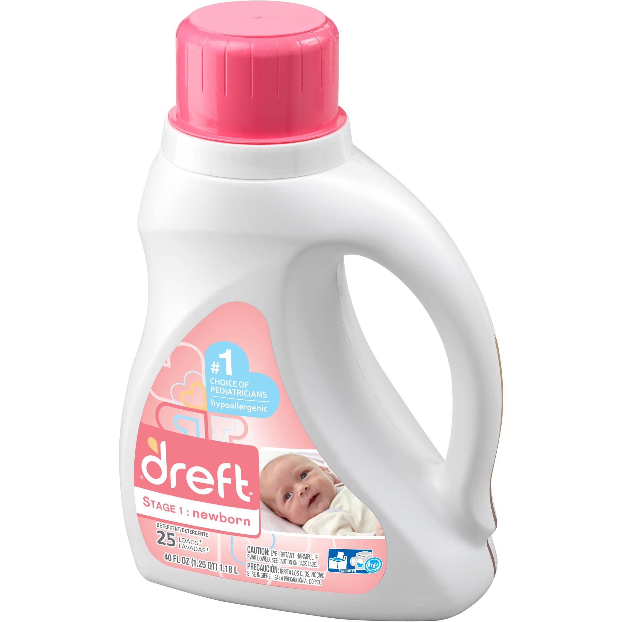 Dreft Stage 1: Newborn Liquid Detergent (HEC): 40 oz, 25 Loads