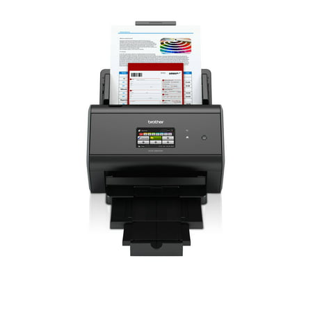 Brother ImageCenter ADS-2800W Wireless Document Scanner, Multi-Page Scanning, Color Touchscreen, Integrated Image Optimization, High-Precision Scanning, Continuous Scan Mode Brother Wireless Scanner