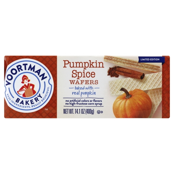 Voortman Pumpkin Spice Wafers, 14.1 Oz.