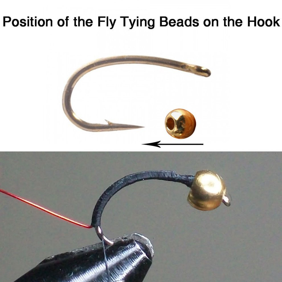 Silver nymph eyes -selection tubs Fly tying beads- Gold Tungsten