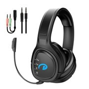 Bluetooth Gaming Headset for PS4 PS5 Xbox One, Wireless Bluetooth 5.0 Headphones Over Ear with Noise Cancelling Microphone, Wireless and Wired HiFi Stereo Headset Fit for Smartphones, PC, Laptops