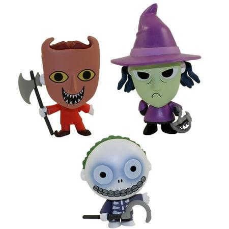 Funko Mystery Mini Figures - Nightmare Before Christmas 25 Years - SET OF 3 (Lock, Shock & - Lock Shock And Barrel Masks