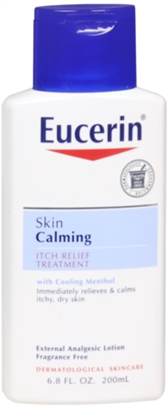 Eucerin Calming Itch-Relief Treatment Lotion 6.80 oz (Pack of 4) by