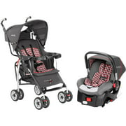 The First Years Wisp Travel System Plaid Gray