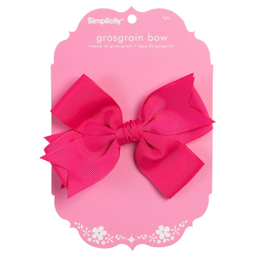 Simplicity Large Gg Bow Ht Pink 1pc