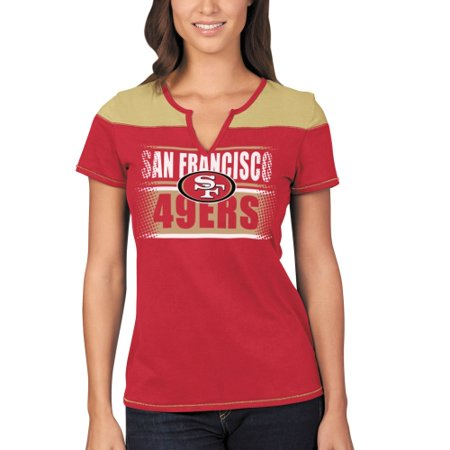 San Francisco 49ers Majestic Women's Football Miracle T-Shirt - Scarlet/Gold ()