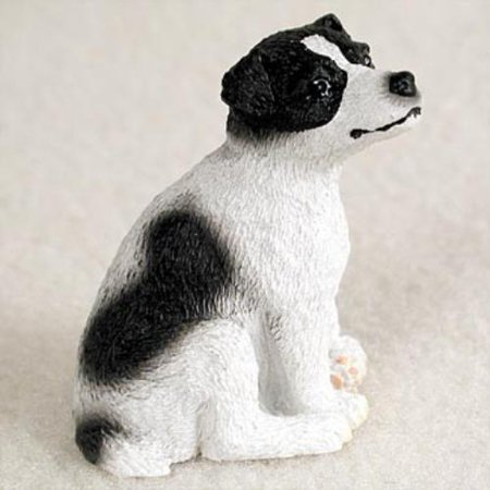 DTN105B Jack Russell Terrier Black & White w/Smooth Coat Tiny One Figurine - Jack Russell Terrier Figurine