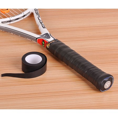 Hao Grip Thin Racquet Over Grip Absorbent Tacky for Tennis Badminton 3 grips, Black