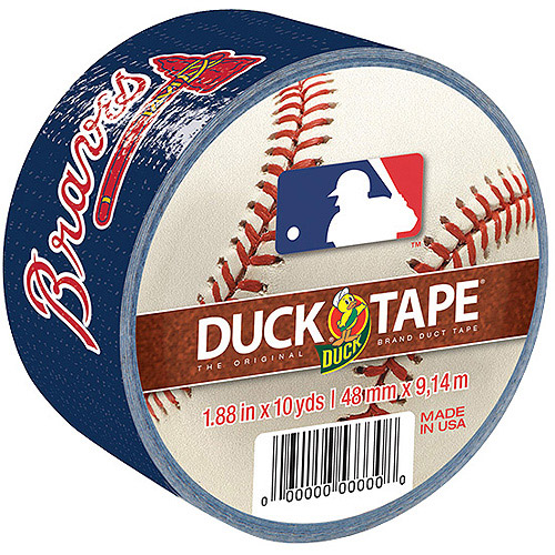 Duck Brand MLB Licensed Duct Tape, 1.88 in. x 10 yds., Atlanta Braves