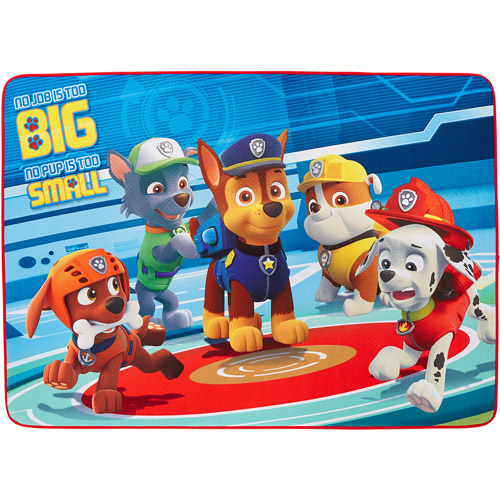 "Nick Jr. Paw Patrol 'Pups In Action' Area Rug, 3'4"" x 4'8"", Blue/Red"