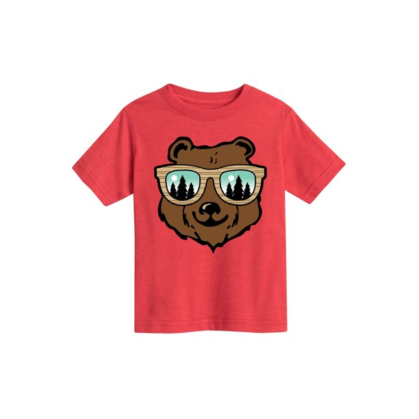 Bear With Sunglasses - Toddler Short Sleeve Tee