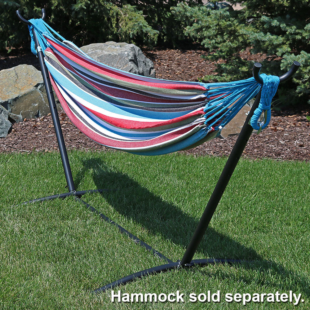Sunnydaze 2 Person Space Saving Brazilian Hammock Stand, Portable with Carrying Case, 400 Pound Capacity, Bronze