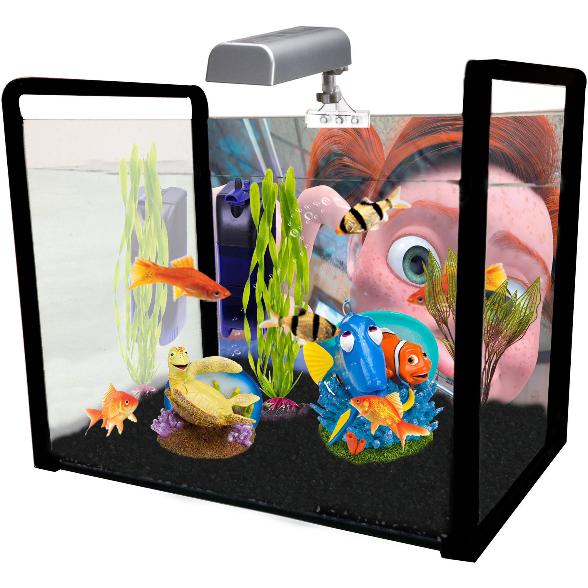 Penn Plax Disney's Finding Nemo Decoration Kit, Medium
