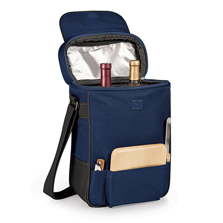 Picnic Time 623-04-138-000-0 Duet Wine and Cheese Tote - Navy
