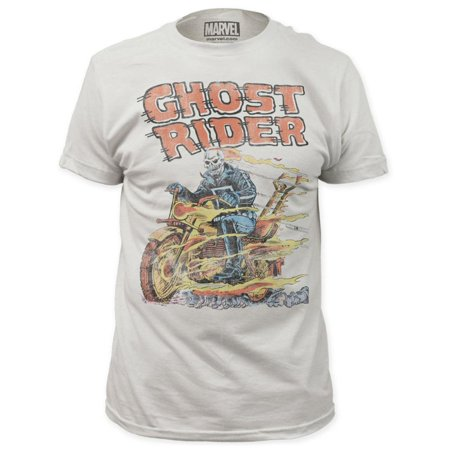 Ghost Rider Men's  Hell On Wheels Slim Fit T-shirt Vintage - Hell On Heels Halloween Shirt