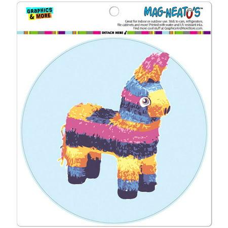 Donkey Pinata Colorful Funny Mexican Fiesta Cinco De Mayo Automotive Car Refrigerator Locker Vinyl Magnet