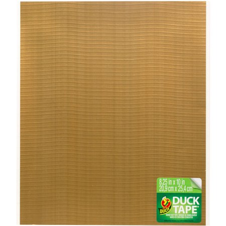 """Duck Brand 8.25"""" x 10"""" Gold Duct Tape Sheets, 6 Piece"""