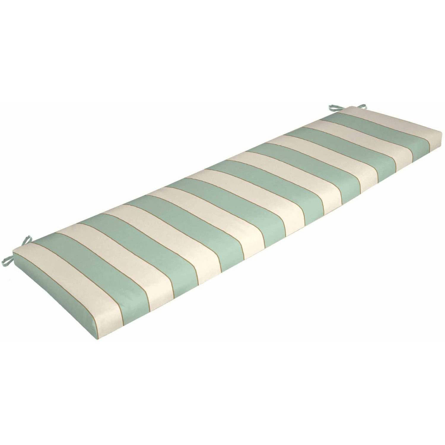 Better Homes And Gardens Outdoor Patio Bench Cushion, Seashells Stripe