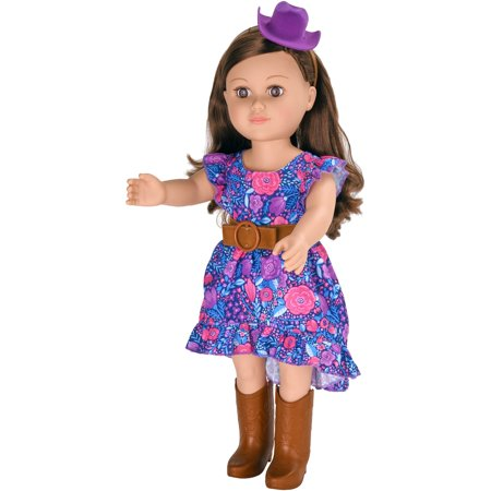 "My Life As 18"" Poseable Cowgirl Doll, Brunette Hair with a Soft Torso"