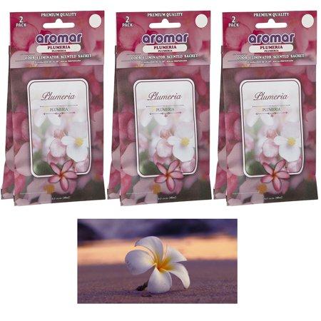 6 Pc Plumeria Flower Scented Sachet Drawer Bags Large Fresh Scent Air - Lavender Sachet Bags