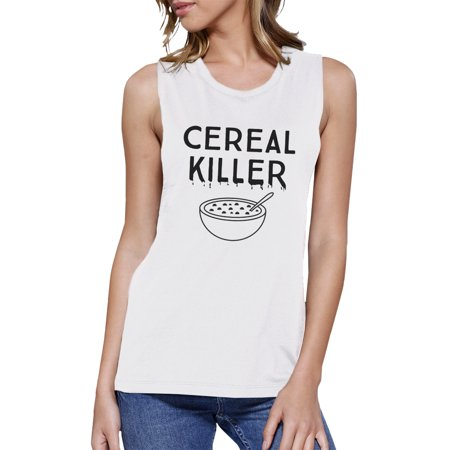 Cereal Killers Halloween (Cereal Killer Funny Halloween Shirt Womens Cute Graphic Muscle)