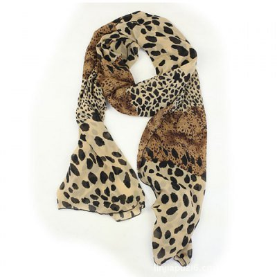 Wild Style Leopard Printing Chiffon Scarves For Women By RTIBTIQERG