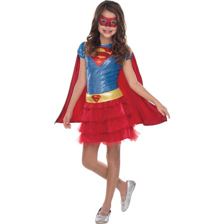 Supergirl Sequin Child Halloween Costume](Supergirl Costume For Girls)