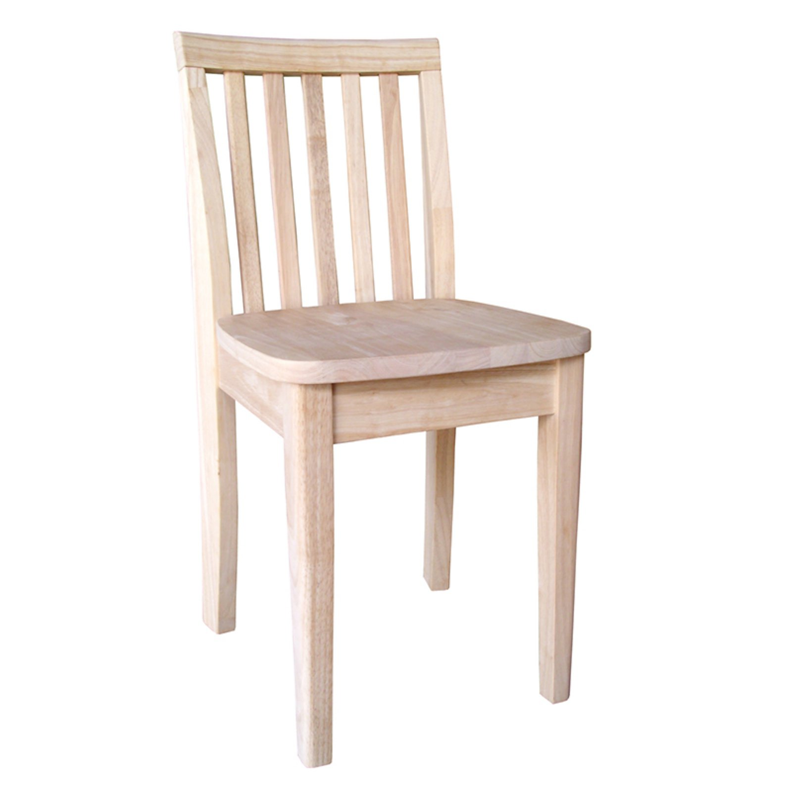 International Concepts Juvenile Slat Back Chair, Set of 2, Unfinished by Generic