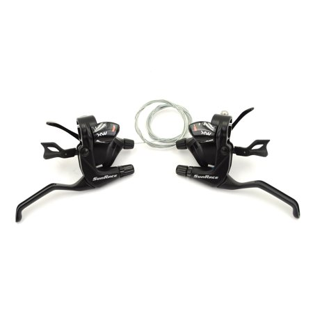 Bike Shifter Cables - Sunrace STMX30 Bicycle Trigger Shifter & Brake Lever Set // 3x11-Speed // Black