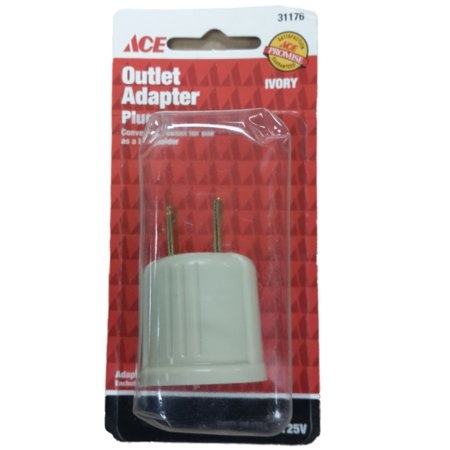 Ace Ivory Beige Plug-In Light Socket Outlet Adapter Lamp Holder Plug 31176