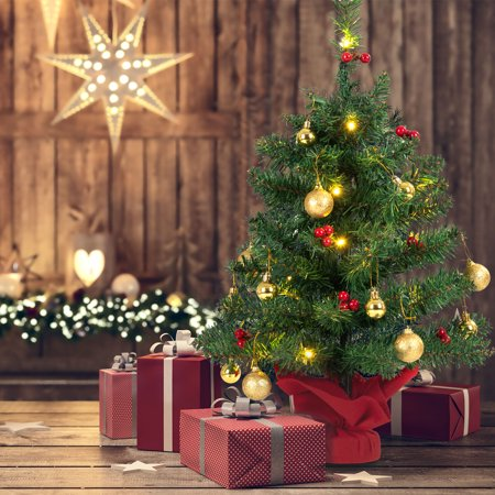 Pre Lit Outdoor Christmas Trees Battery Operated.Gymax 24 Pre Lit Pvc Christmas Tree Battery Operated