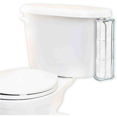 home basics chrome over the tank toilet paper holder. Black Bedroom Furniture Sets. Home Design Ideas