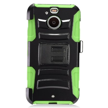 For Sprint HTC BOLT COMBO Holster Hard HYBRID KICK STAND Rubber Phone Case Accessory + Screen (Htc 8125 Accessories)