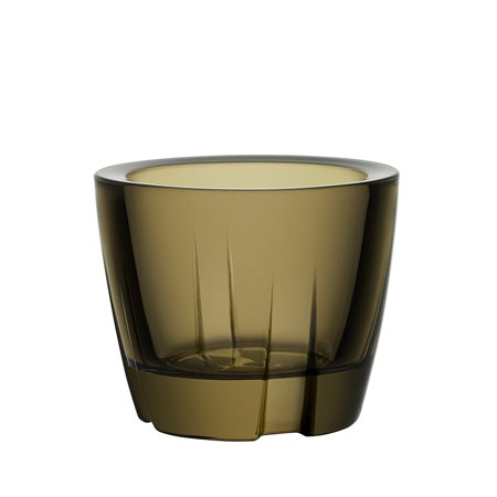 Kosta Boda Bruk Anything Bowl Votive Dark Brown Glass ()