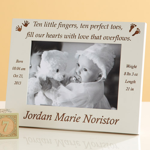 Personalized Ten Fingers and Ten Toes Frame