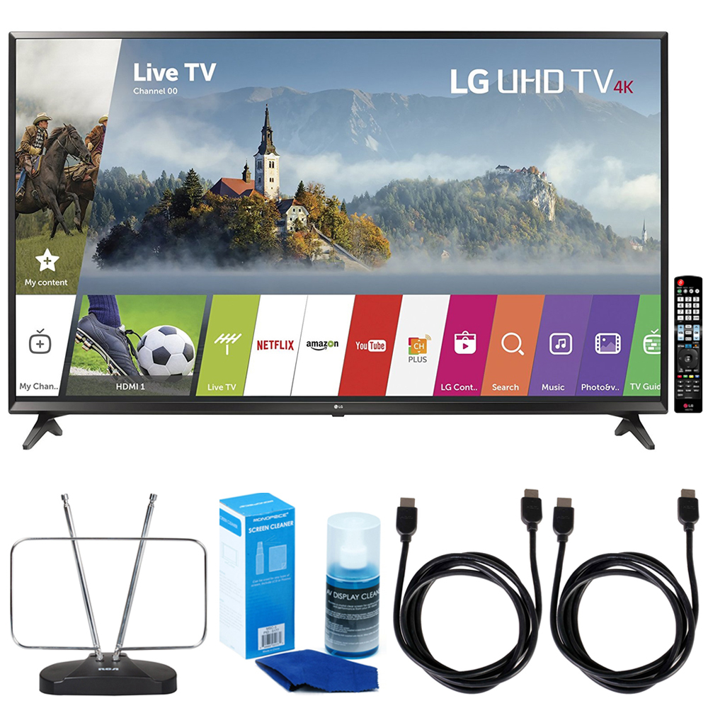 "LG 65UJ6300 - 65"" Super UHD 4K HDR Smart LED TV (2017 Model) w/"