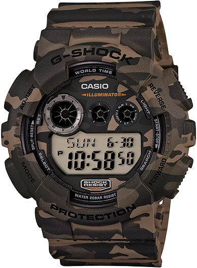 Casio - Casio G-shock Xl Digital Gd120cm-5 Wristwatch