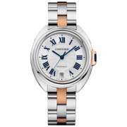 Cartier Cle De Cartier W2CL0003 Steel and 18K Rose Gold Automatic Ladies Watch