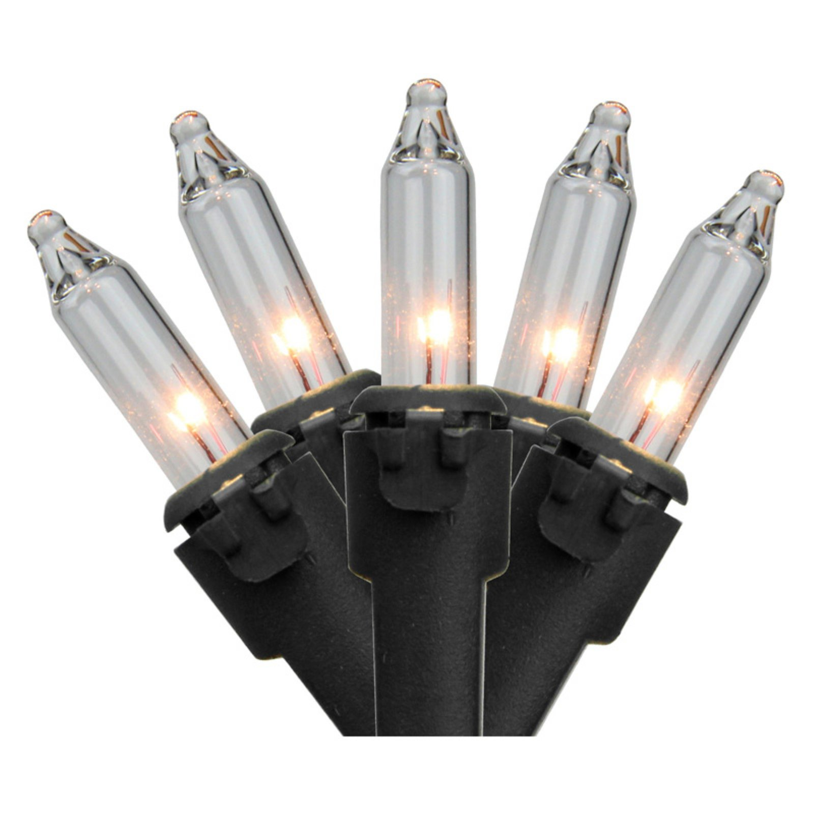 Northlight 100 ct. Clear Mini Lights with Black Wire 2.5 in. Spacing