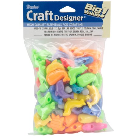 Character Beads, 25mm, 1/4 lb, Animal (25mm Square Beads)
