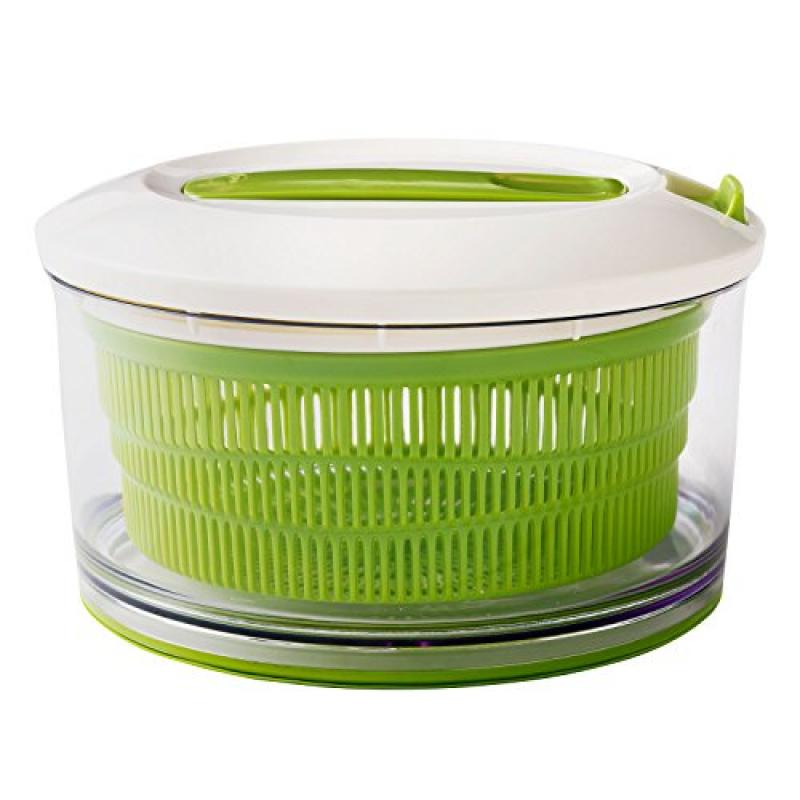 Chef'n Spin Cycle Salad Spinner with No Slip Silicone Base, Large, Arugula by ChefN