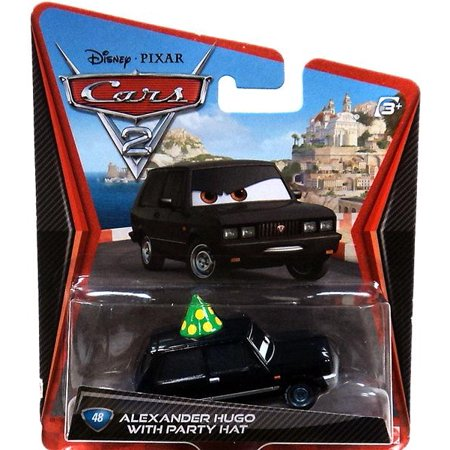 Disney Cars Main Series Alexander Hugo with Party Hat Diecast Car