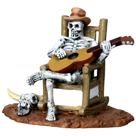 Lemax 22003 ROCKING CHAIR SKELETON Spooky Town Figurine Halloween Decor Figure - Halloween Side Dishes Spooky