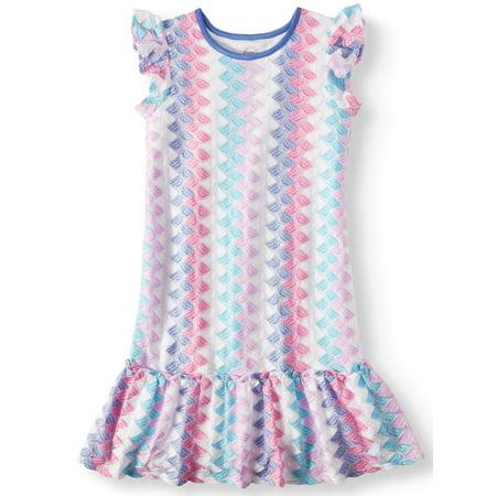 Knit Peplum Dress (Knit Lace Peplum Hem Dress (Little Girls, Big Girls & Big Girls)