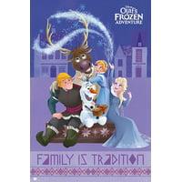 "Olaf's Frozen Adventure - Disney Movie Poster / Print (Cast: Anna, Elsa, Kristoff, Sven & Olaf) (Size: 24"" x 36"")"