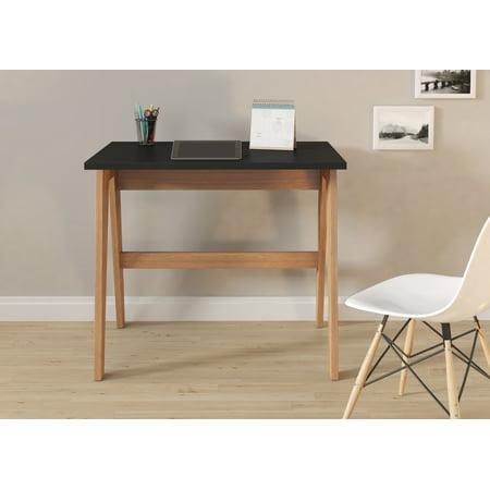 Black Laminated Wood (Trendline 26107 Black Wood and Laminate Home Office Desk )