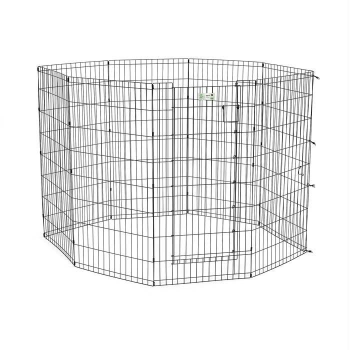 """Midwest Life Stages Pet Exercise Pen With Door 8 Panels Black 24"""" X 30"""" - image 1 of 1"""