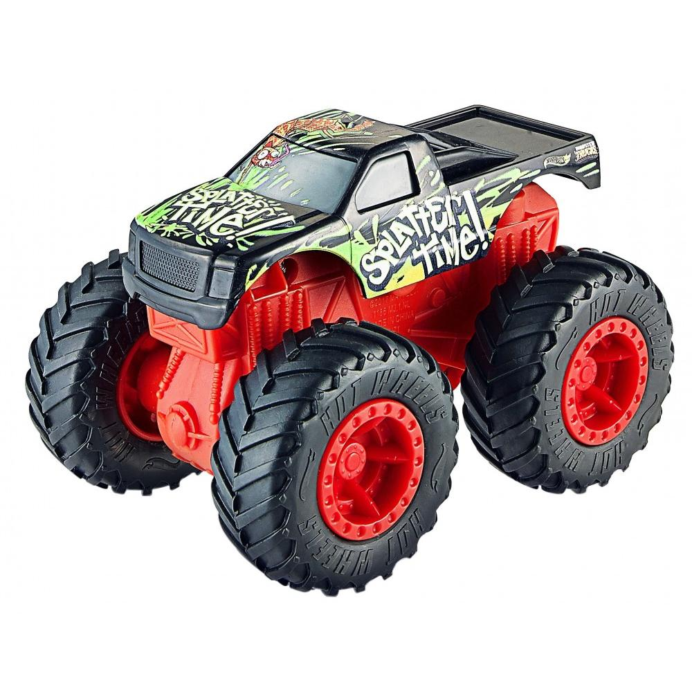 Hot Wheels Rev Tredz Monster Trucks Splatter Time vs Toadal Terror Set