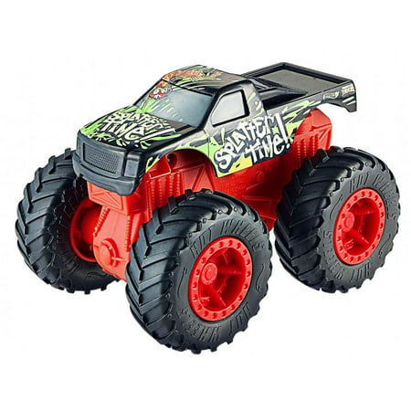 Hot Wheels Rev Tredz Monster Trucks Splatter Time vs Toadal Terror - Old Time Truck Spinner