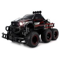 Speed Spark 6x2 Toy Electric RC Monster Truck Big 1:12 Scale RTR w/ Working Headlights, Dual Rear Wheels (Colors May Vary)